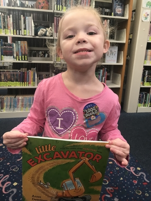 One of the kids who read 1000 Books Before Kindergarten.  Call 845-3601 for more information about the program.